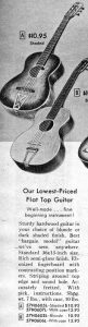 Sears 1956 Catalog Page of Silvertone Guitars
