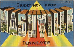 Vintage Greetings from Nashville postcard