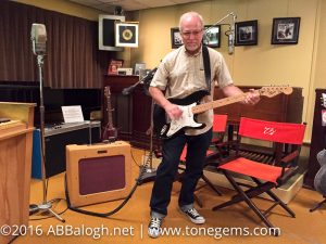 A. Byron Balogh playing Buddy Holly's amp in the Norman Petty Recording Studio, Clovis, New Mexico
