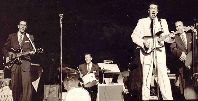 Buddy Holly & The Crickets on stage